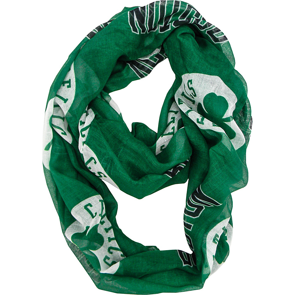 Littlearth Sheer Infinity Scarf - NBA Teams Boston Celtics - Littlearth Hats/Gloves/Scarves - Fashion Accessories, Hats/Gloves/Scarves