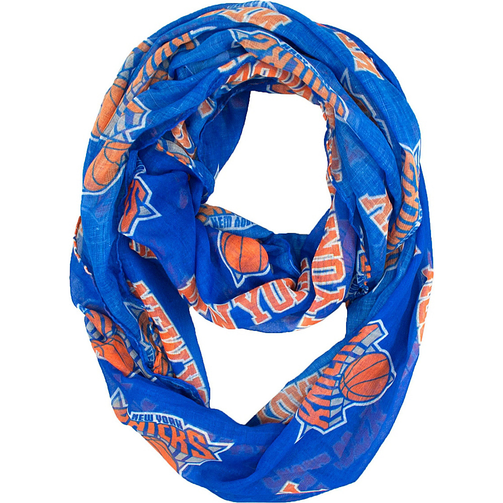Littlearth Sheer Infinity Scarf - NBA Teams New York Knicks - Littlearth Hats/Gloves/Scarves - Fashion Accessories, Hats/Gloves/Scarves