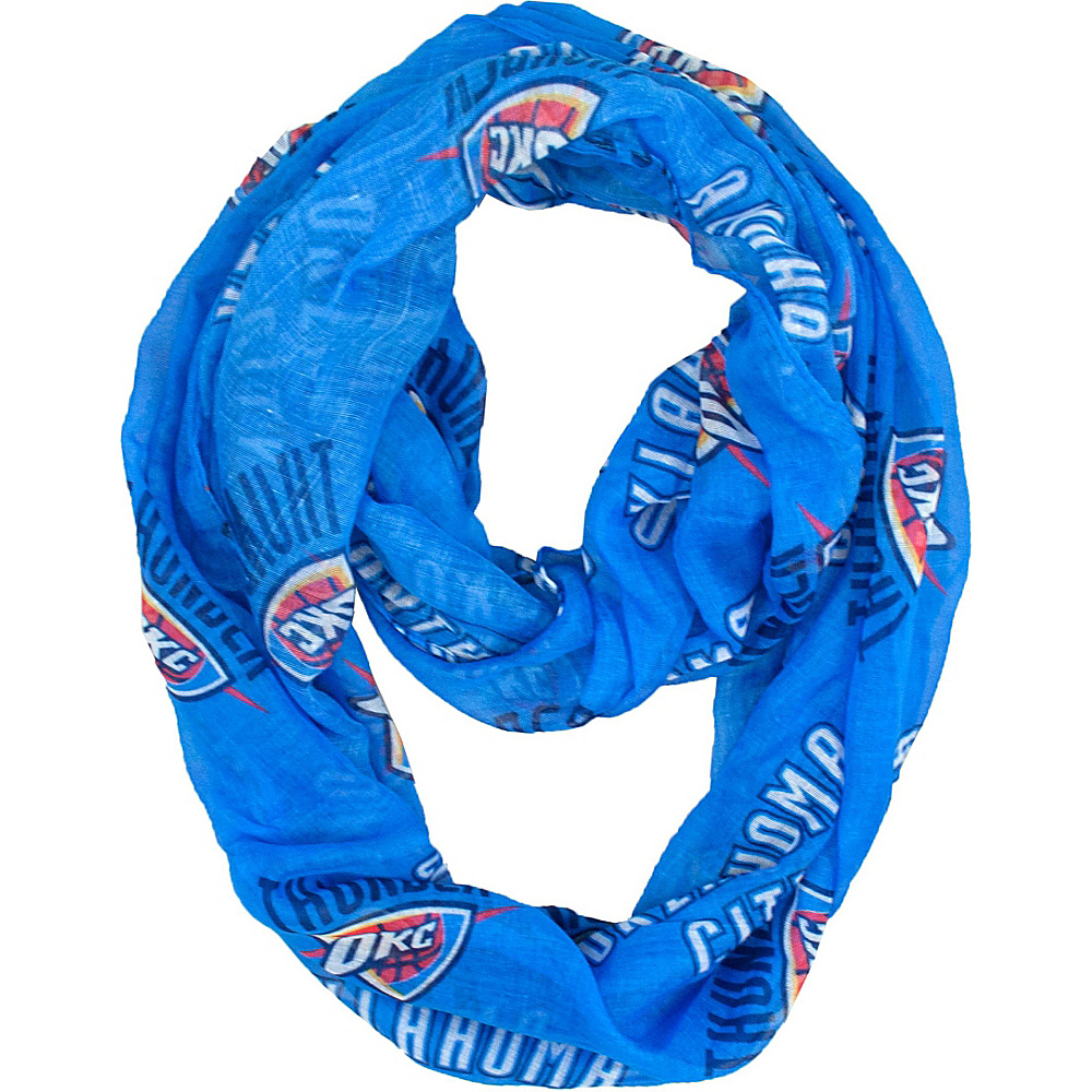 Littlearth Sheer Infinity Scarf - NBA Teams Oklahoma City Thunder - Littlearth Hats/Gloves/Scarves - Fashion Accessories, Hats/Gloves/Scarves