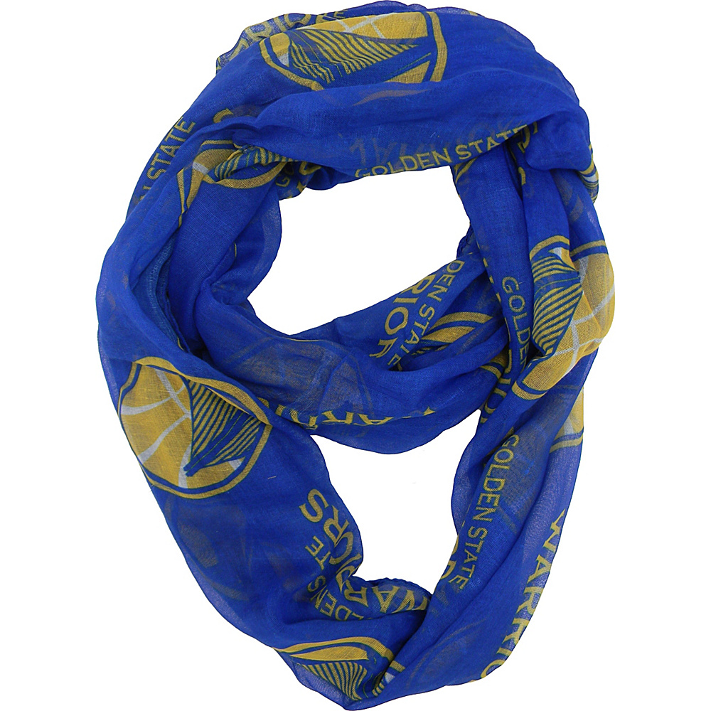 Littlearth Sheer Infinity Scarf - NBA Teams Golden State Warriors - Littlearth Hats/Gloves/Scarves - Fashion Accessories, Hats/Gloves/Scarves