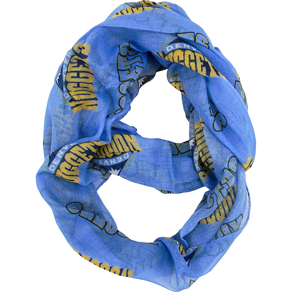 Littlearth Sheer Infinity Scarf - NBA Teams Denver Nuggets - Littlearth Hats/Gloves/Scarves - Fashion Accessories, Hats/Gloves/Scarves