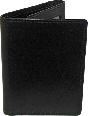 Boconi Grant RFID Trifold Black Leather with Gray - Boconi Men's Wallets