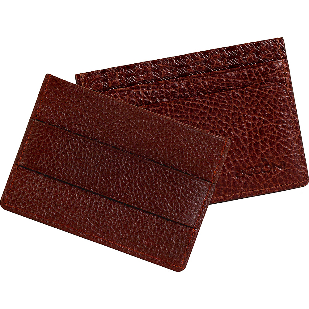 Boconi Mathews RFID Cash Stash Bark Brown Boconi Men s Wallets