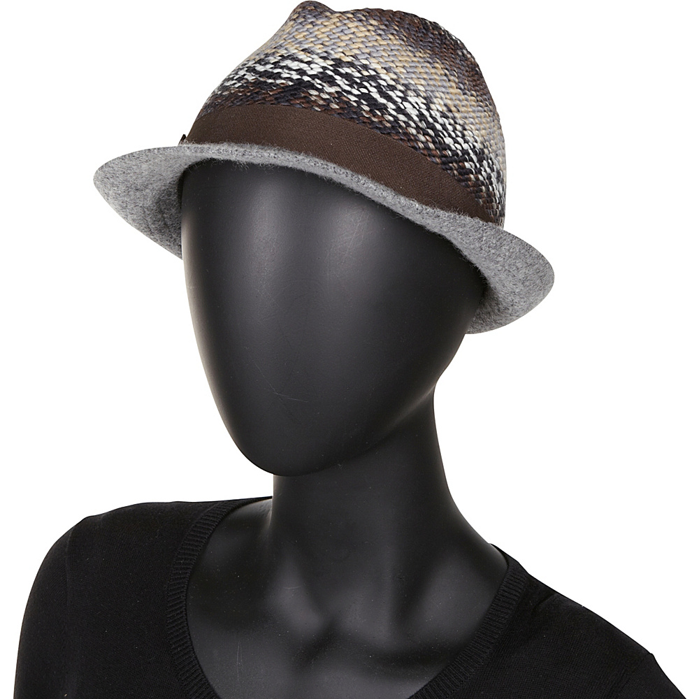 Betmar New York Scarlett Hat Grey Multi - Betmar New York Hats/Gloves/Scarves