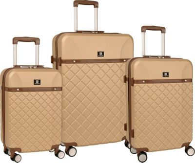 Image of Anne Klein Luggage Greenwich 3Pc Luggage Set Semolina - Anne Klein Luggage Luggage Sets