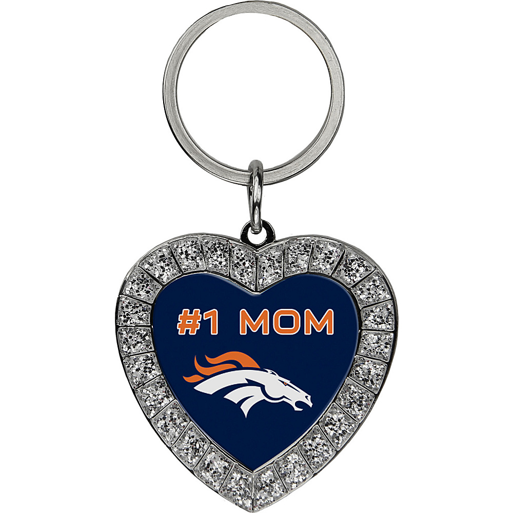 Luggage Spotters NFL Denver Broncos #1 Mom Rhinestone Key Chain Orange - Luggage Spotters Women's SLG Other