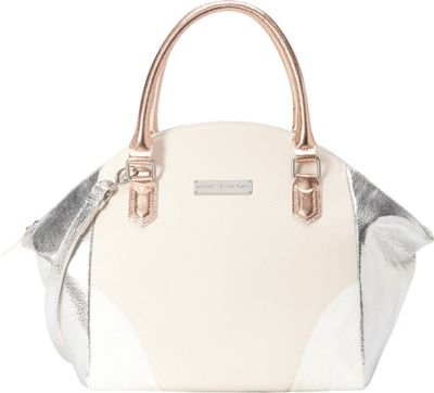 Image of Adrienne Landau Calypso Nolita Satchel White - Adrienne Landau Leather Handbags