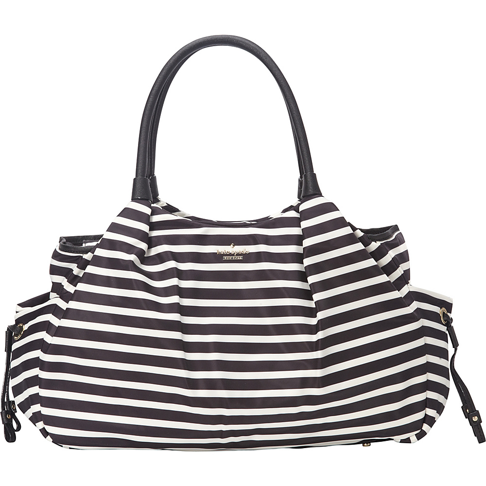 kate spade new york Stevie Baby Bag Classic nylon Black Cream kate spade new york Diaper Bags Accessories