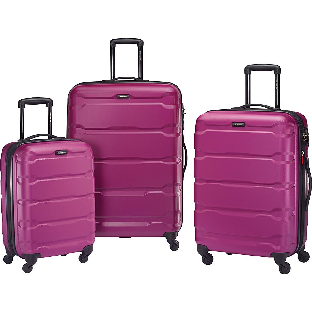 samsonite omni pc 3 piece spinner luggage set 5 colors ebay. Black Bedroom Furniture Sets. Home Design Ideas