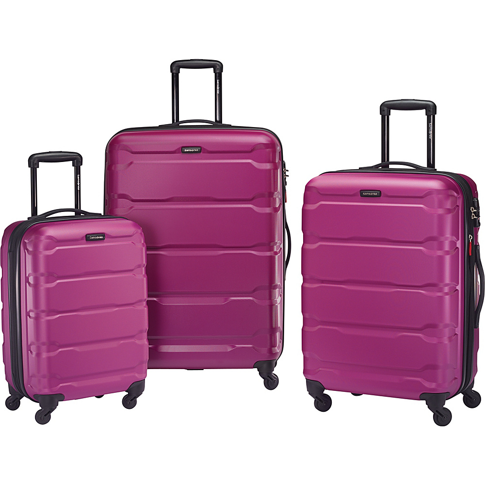 Samsonite Omni PC 3pc Nested Spinner Set Radiant Pink Samsonite Luggage Sets