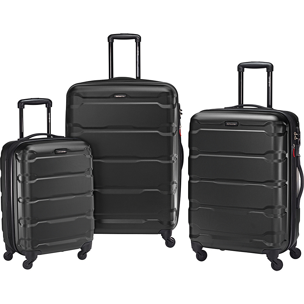 Samsonite Omni PC 3pc Nested Spinner Set Black Samsonite Luggage Sets