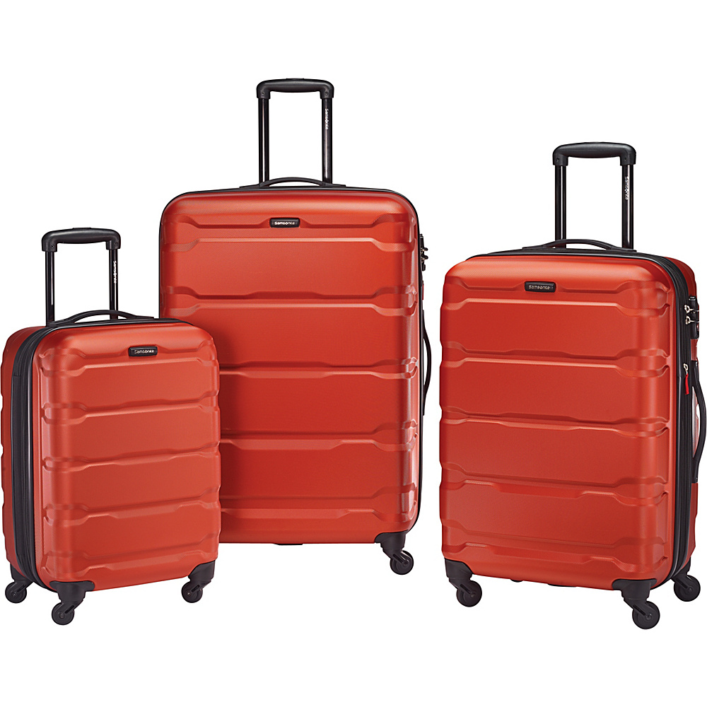 Samsonite Omni PC 3pc Nested Spinner Set Burnt Orange Samsonite Luggage Sets