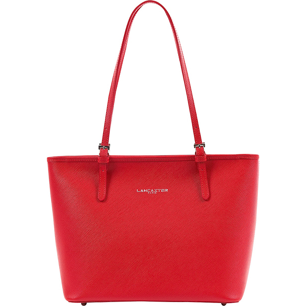 Lancaster Paris Adele Tote Red Lancaster Paris Leather Handbags