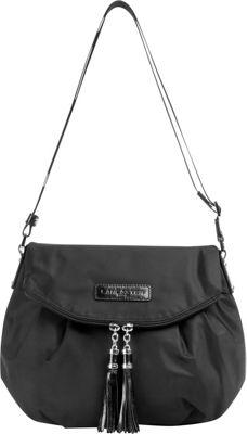 Lancaster Paris Nylon Tassel Traveler Black - Lancaster Paris Fabric Handbags