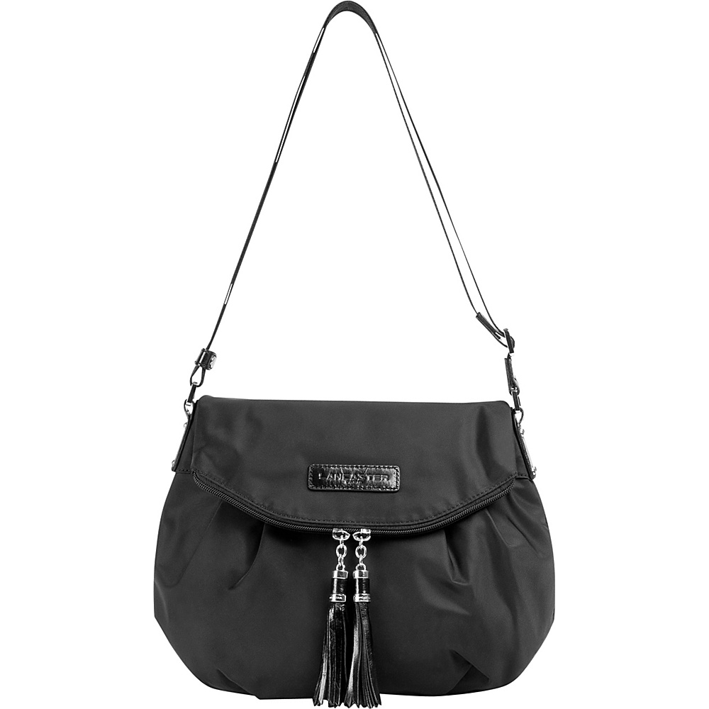 Lancaster Paris Nylon Tassel Traveler Black Lancaster Paris Fabric Handbags