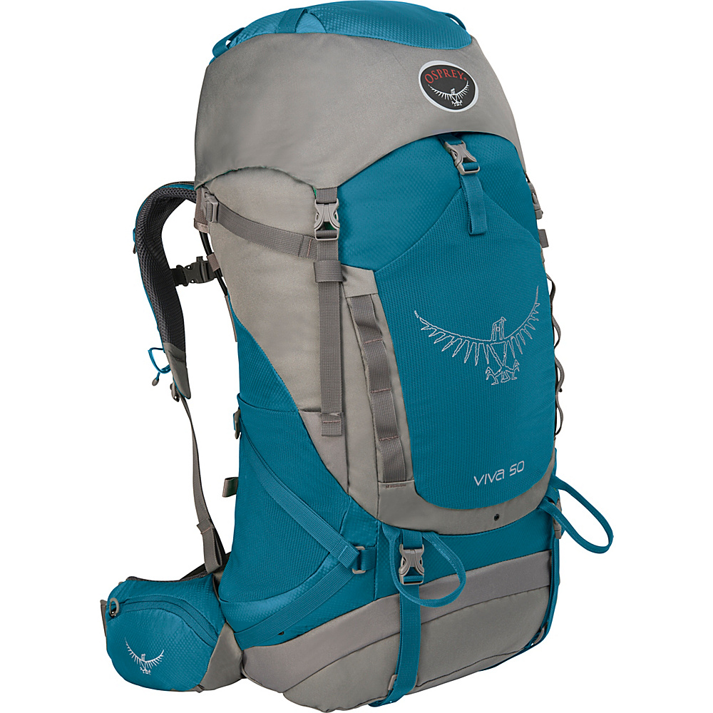 Osprey Viva 50 Hiking Backpack Cool Blue - Osprey Backpacking Packs - Outdoor, Backpacking Packs