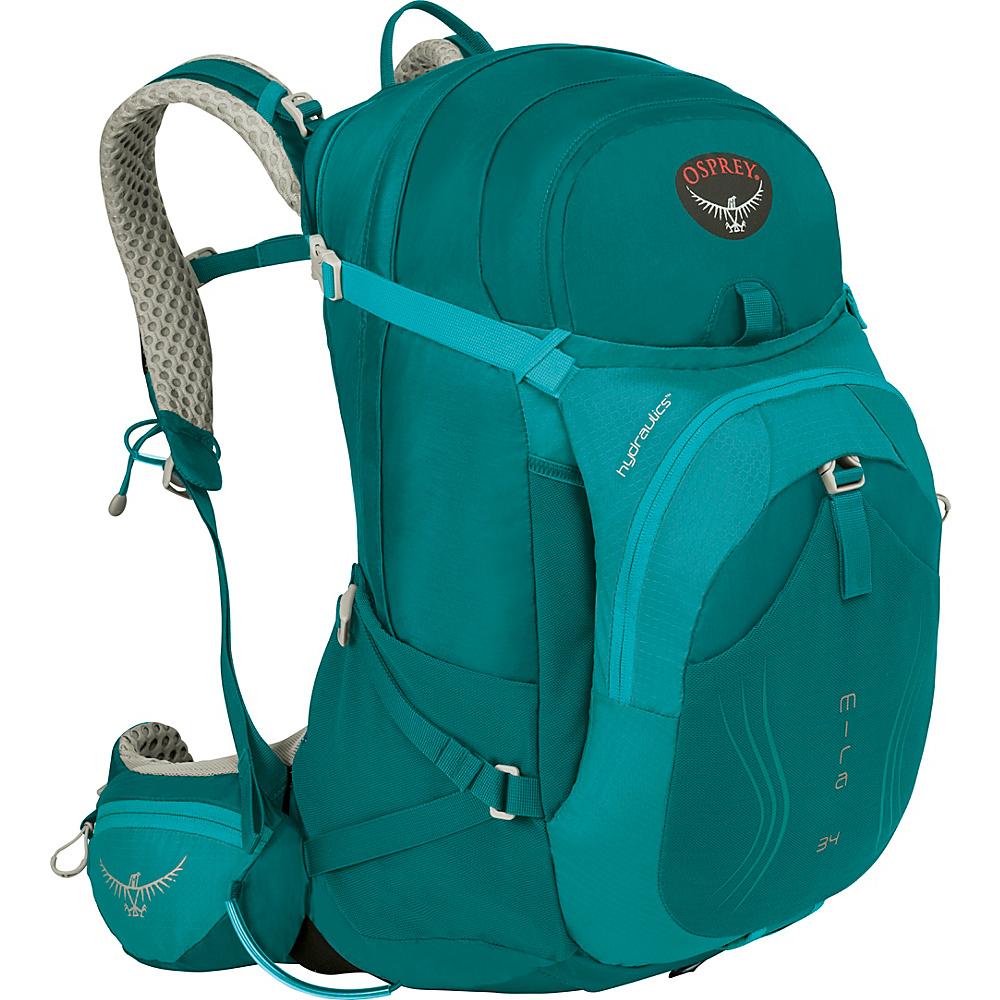 Osprey Mira AG 34 Hiking Pack Bondi Blue - XS/S - Osprey Day Hiking Backpacks - Outdoor, Day Hiking Backpacks