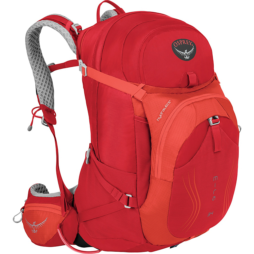 Osprey Mira AG 34 Hiking Pack Cherry Red - S/M - Osprey Day Hiking Backpacks - Outdoor, Day Hiking Backpacks