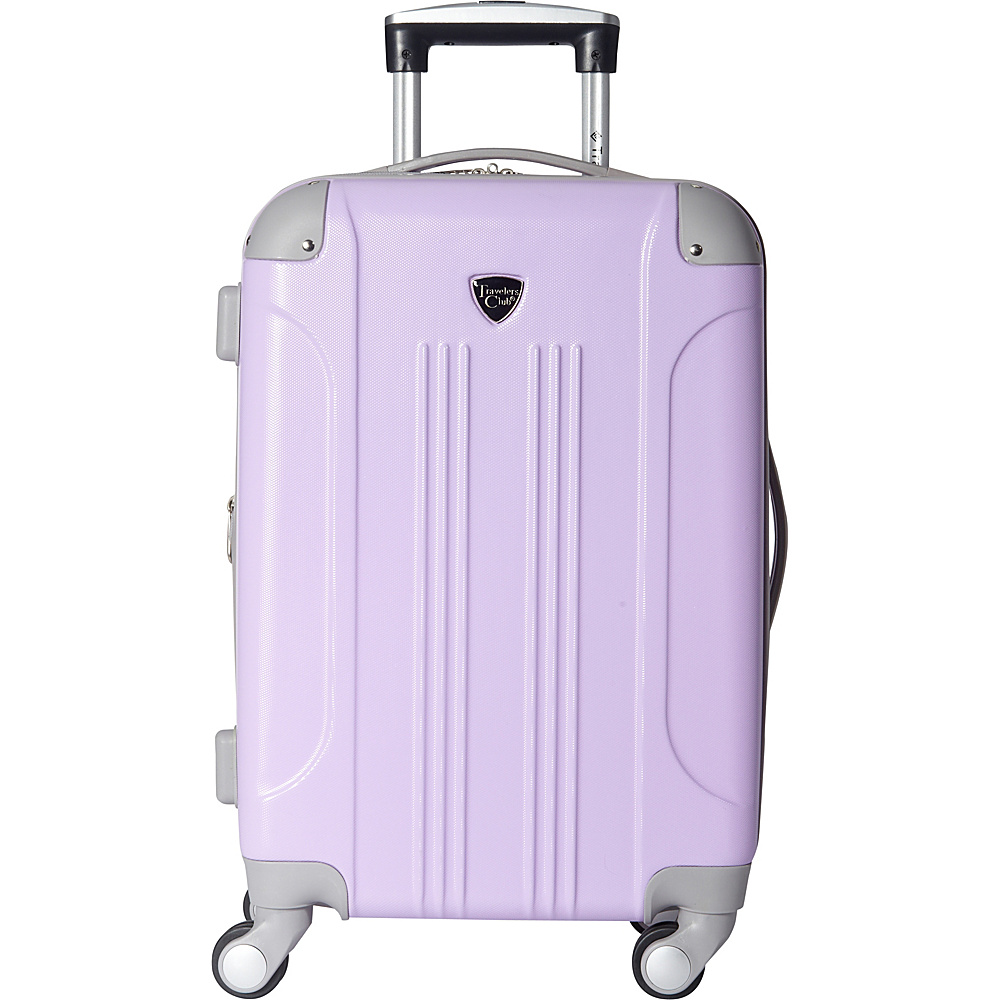 """Travelers Club Luggage Modern 20"""" Hardside Expandable Carry-On Spinner - EXCLUSIVE Purple - Travelers Club Luggage Hardside Carry-On"""