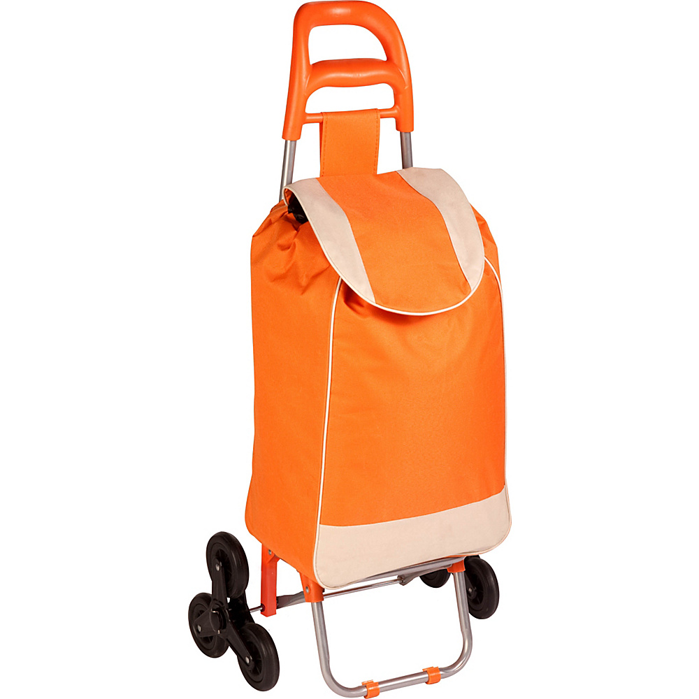 Honey Can Do Bag Cart With Tri Wheels orange Honey Can Do Luggage Accessories
