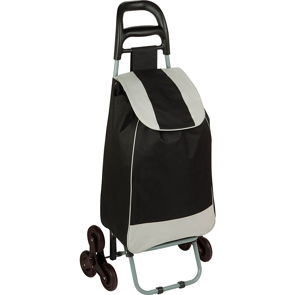 Honey Can Do Bag Cart With Tri Wheels Black Honey Can Do Luggage Accessories