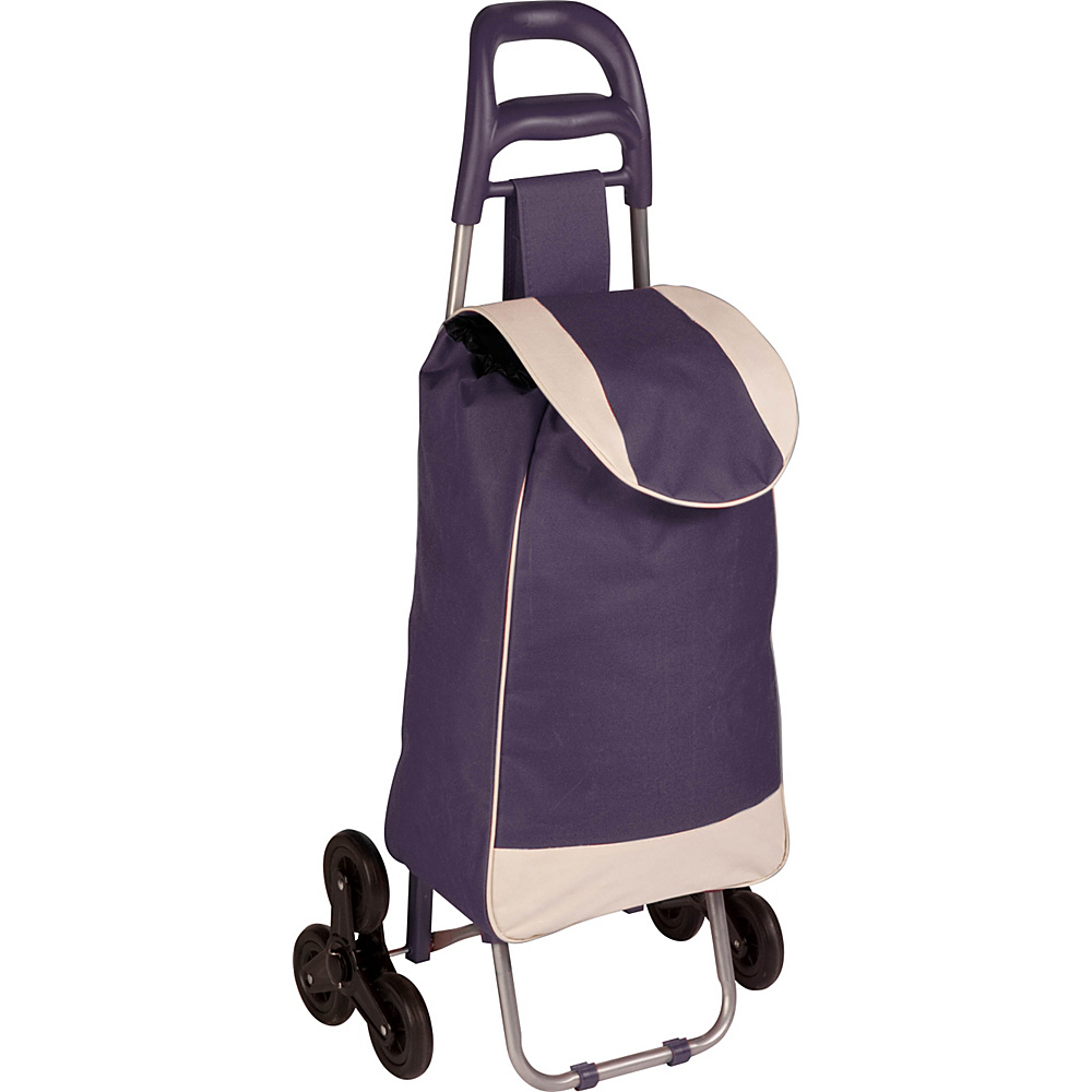 Honey Can Do Bag Cart With Tri Wheels purple Honey Can Do Luggage Accessories