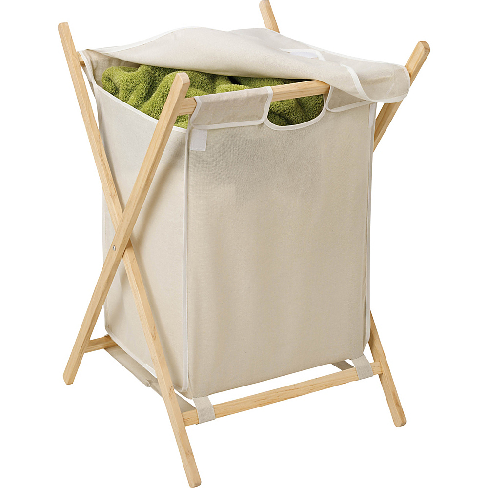 Honey Can Do Folding Wooden Hamper natural Honey Can Do Packable Bags
