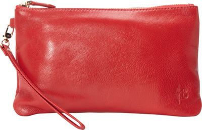 HButler The Mighty Purse Phone Charging Wristlet Ruby Red - HButler Leather Handbags