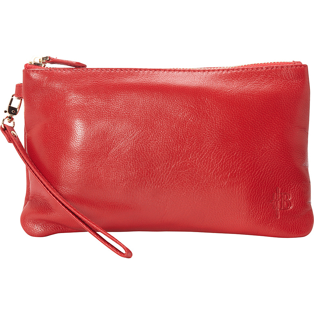 HButler The Mighty Purse Phone Charging Wristlet Ruby Red HButler Leather Handbags