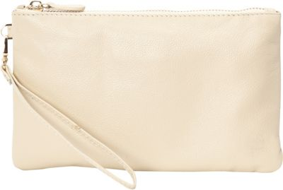 HButler The Mighty Purse Phone Charging Wristlet Cream - HButler Leather Handbags