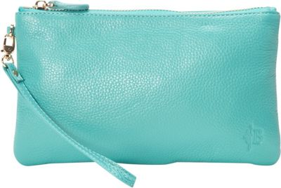 HButler The Mighty Purse Phone Charging Wristlet Turquoise - HButler Leather Handbags