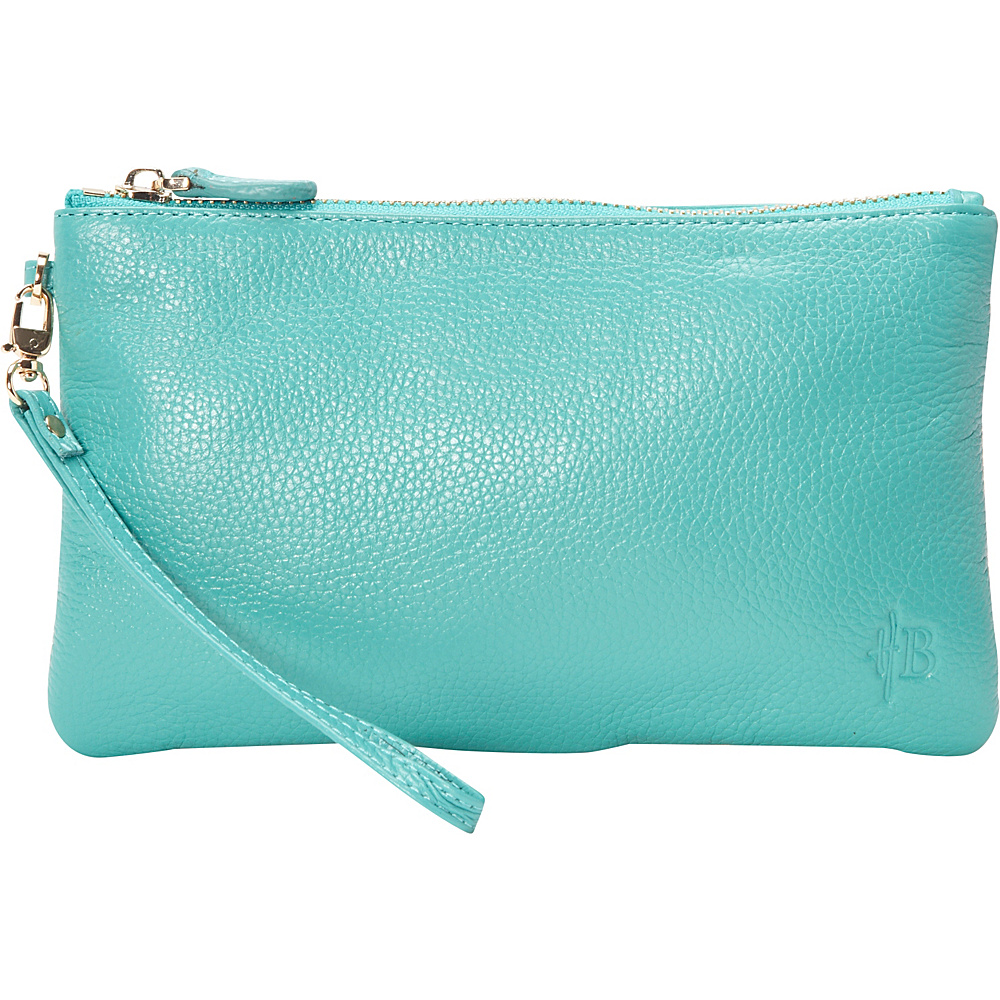HButler The Mighty Purse Phone Charging Wristlet Turquoise HButler Leather Handbags