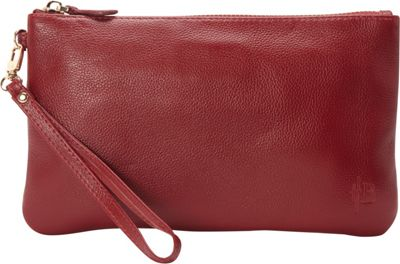 HButler The Mighty Purse Phone Charging Wristlet Wine Red - HButler Leather Handbags