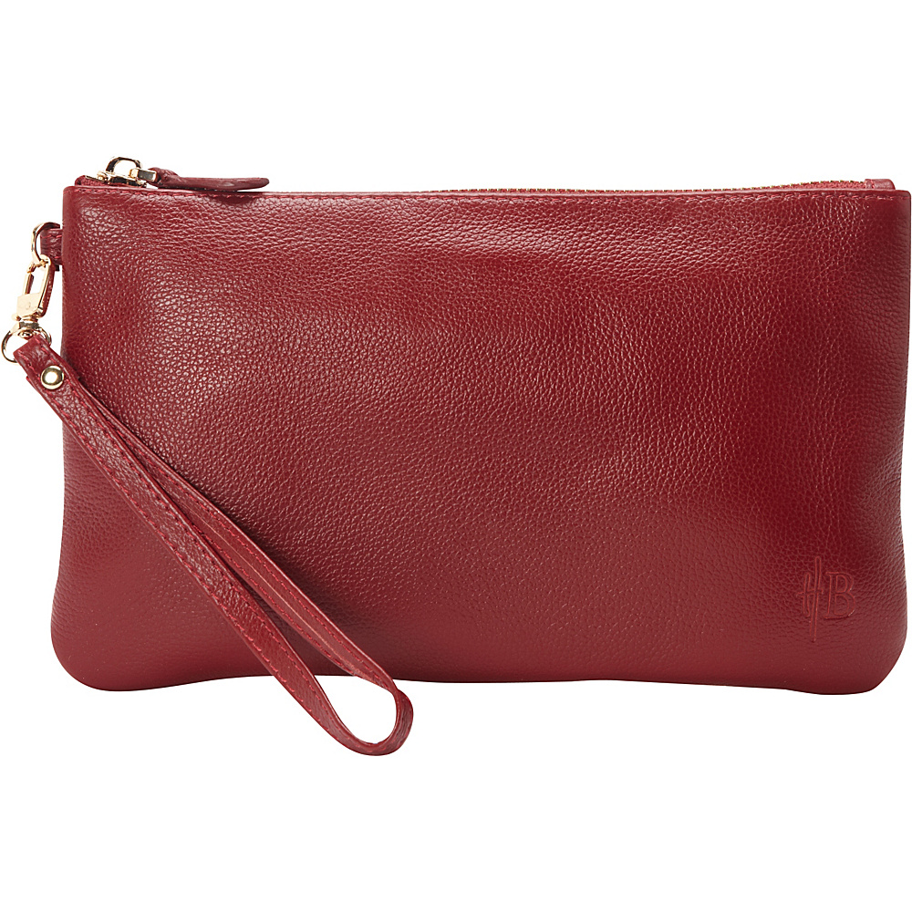 HButler The Mighty Purse Phone Charging Wristlet Wine Red HButler Leather Handbags