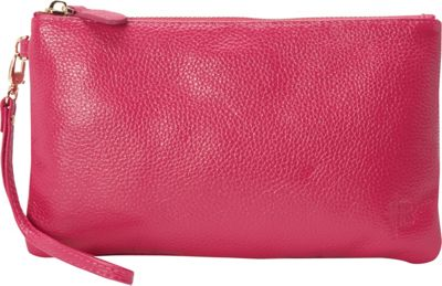 HButler The Mighty Purse Phone Charging Wristlet Poppy Pink - HButler Leather Handbags