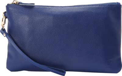 HButler The Mighty Purse Phone Charging Wristlet Navy Blue - HButler Leather Handbags