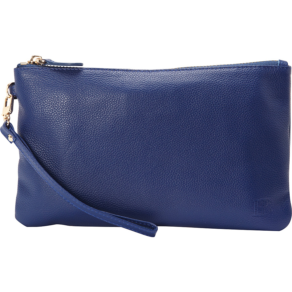 HButler The Mighty Purse Phone Charging Wristlet Navy Blue HButler Leather Handbags