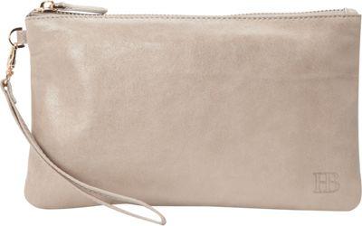 HButler The Mighty Purse Phone Charging Wristlet Lizard Grey - HButler Leather Handbags