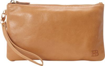 HButler The Mighty Purse Phone Charging Wristlet Almond Brown - HButler Leather Handbags
