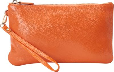 HButler The Mighty Purse Phone Charging Wristlet Tangerine Orange - HButler Leather Handbags