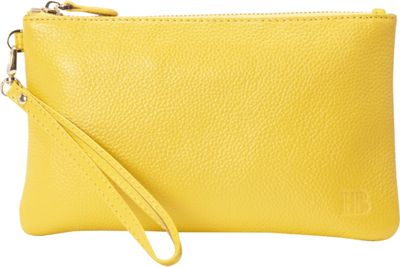 HButler The Mighty Purse Phone Charging Wristlet Squeaky Yellow - HButler Leather Handbags