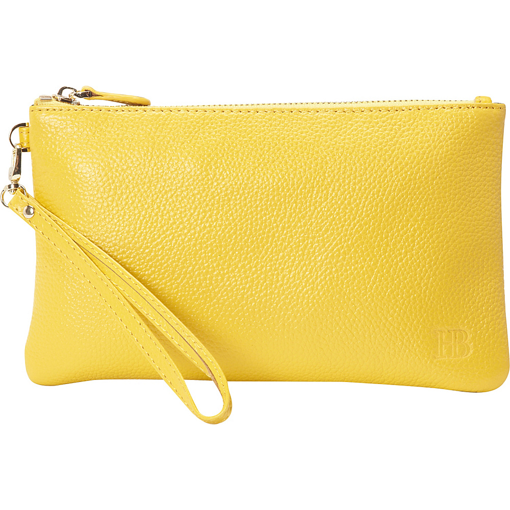 HButler The Mighty Purse Phone Charging Wristlet Squeaky Yellow HButler Leather Handbags