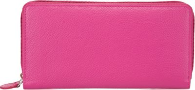 Image of Ann Shelby Elaine Ladies Leather Wallet Pink - Ann Shelby Ladies Small Wallets