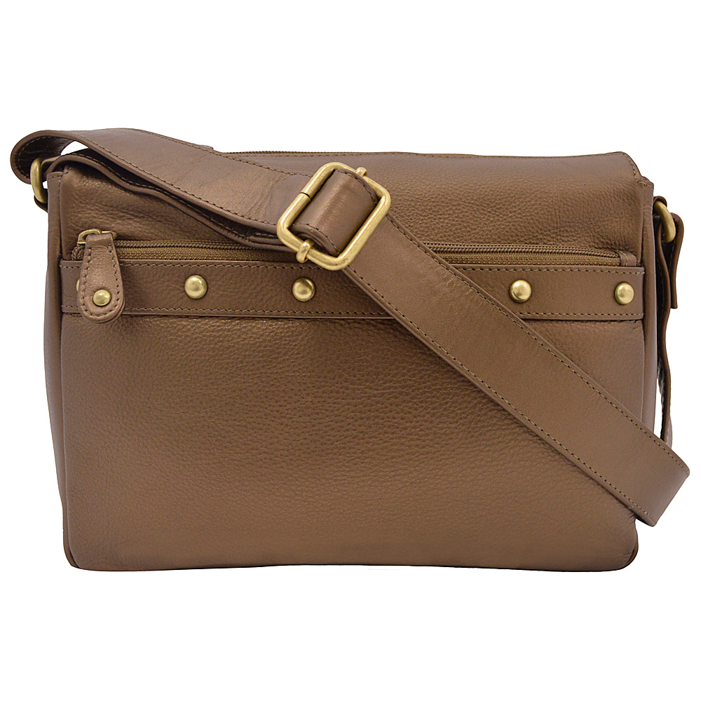 43 99 More Details Great American Leatherworks Catania Crossbody Dark Bronze Leather Handbags