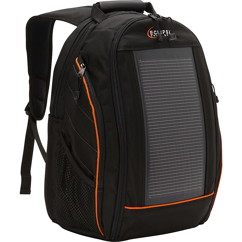 Eclipse Solar Gear The Eclipse Solar Backpack Black/Orange - Eclipse Solar Gear Laptop Backpacks