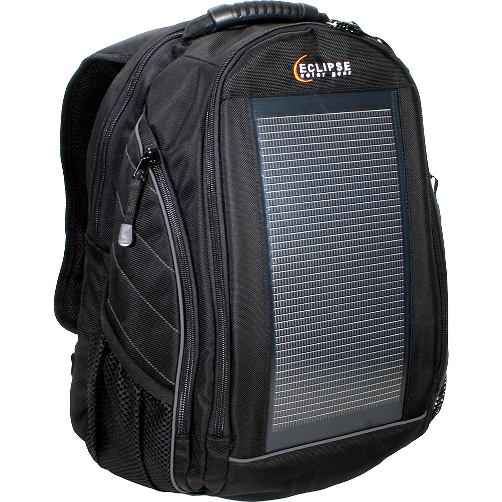 Eclipse Solar Gear The Eclipse Solar Backpack Black/Gray - Eclipse Solar Gear Laptop Backpacks