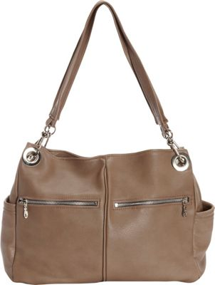 Victoria Leather Michelle Shoulder Bag Taupe - Victoria Leather Leather Handbags