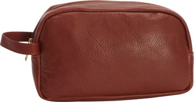 Victoria Leather Leather Shave Kit Cognac - Victoria Leather Toiletry Kits