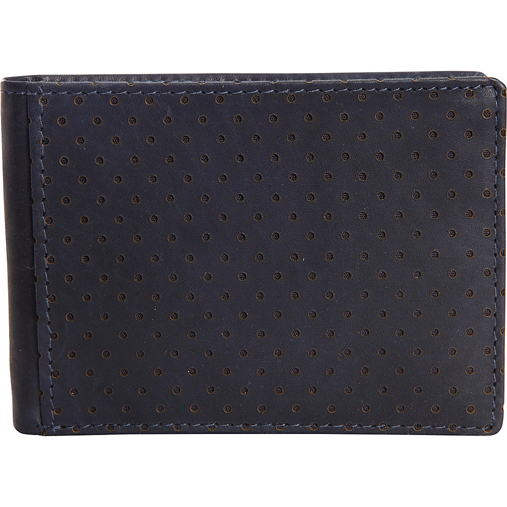 Buxton Cooper Front Pocket Slimfold Wallet Navy - Buxton Mens Wallets - Work Bags & Briefcases, Men's Wallets