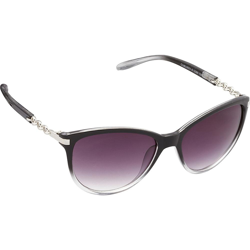 Unionbay Eyewear Chain Link Cat Eye Sunglasses Black Fade Unionbay Eyewear Sunglasses